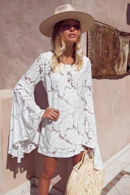 Fleur-Lace-Dress-Bohemian-Beach-Wedding-Dress-Long-Sleeves-Short-shift-dress-buy-online