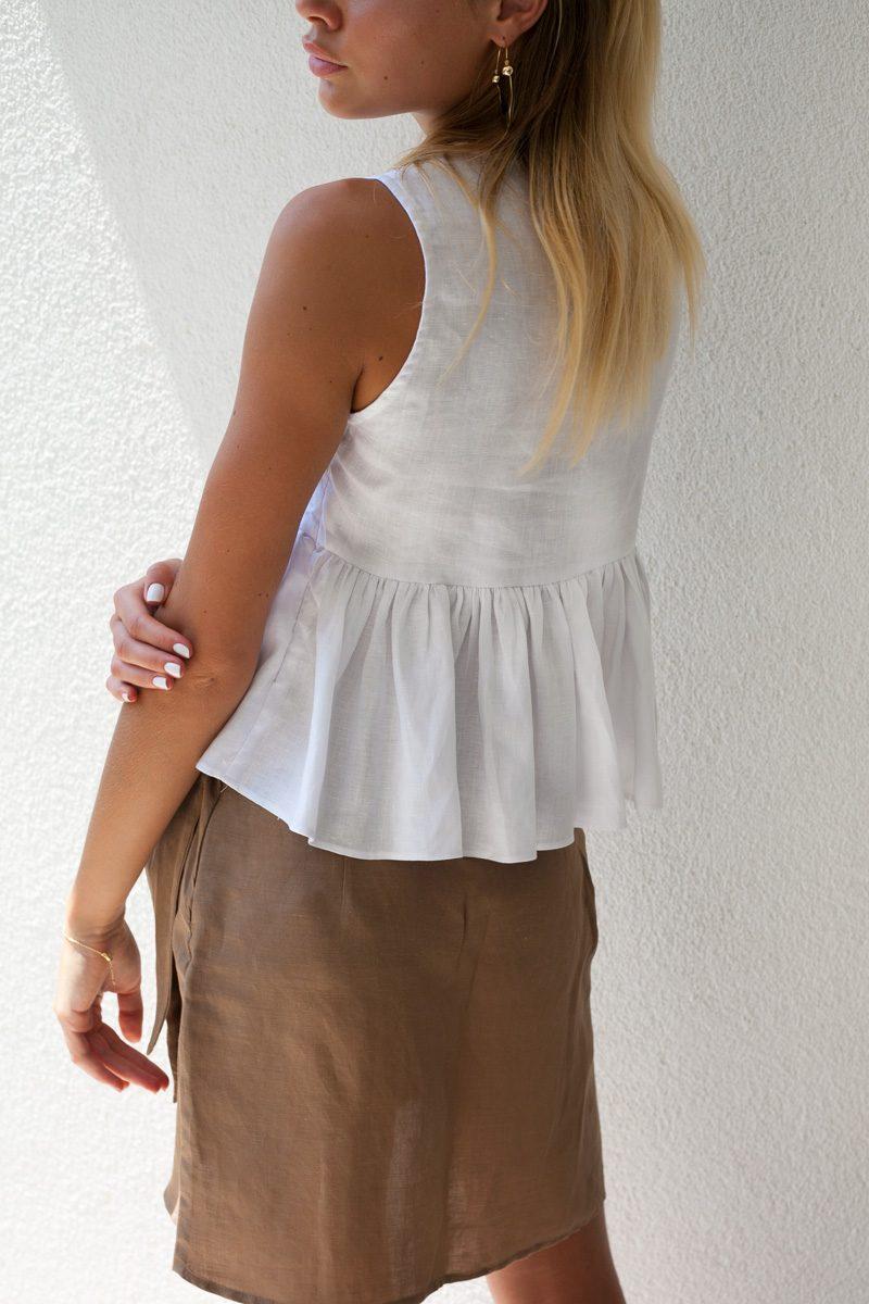 ba0e7c84709 Home Uncategorized Mimi Linen Top White