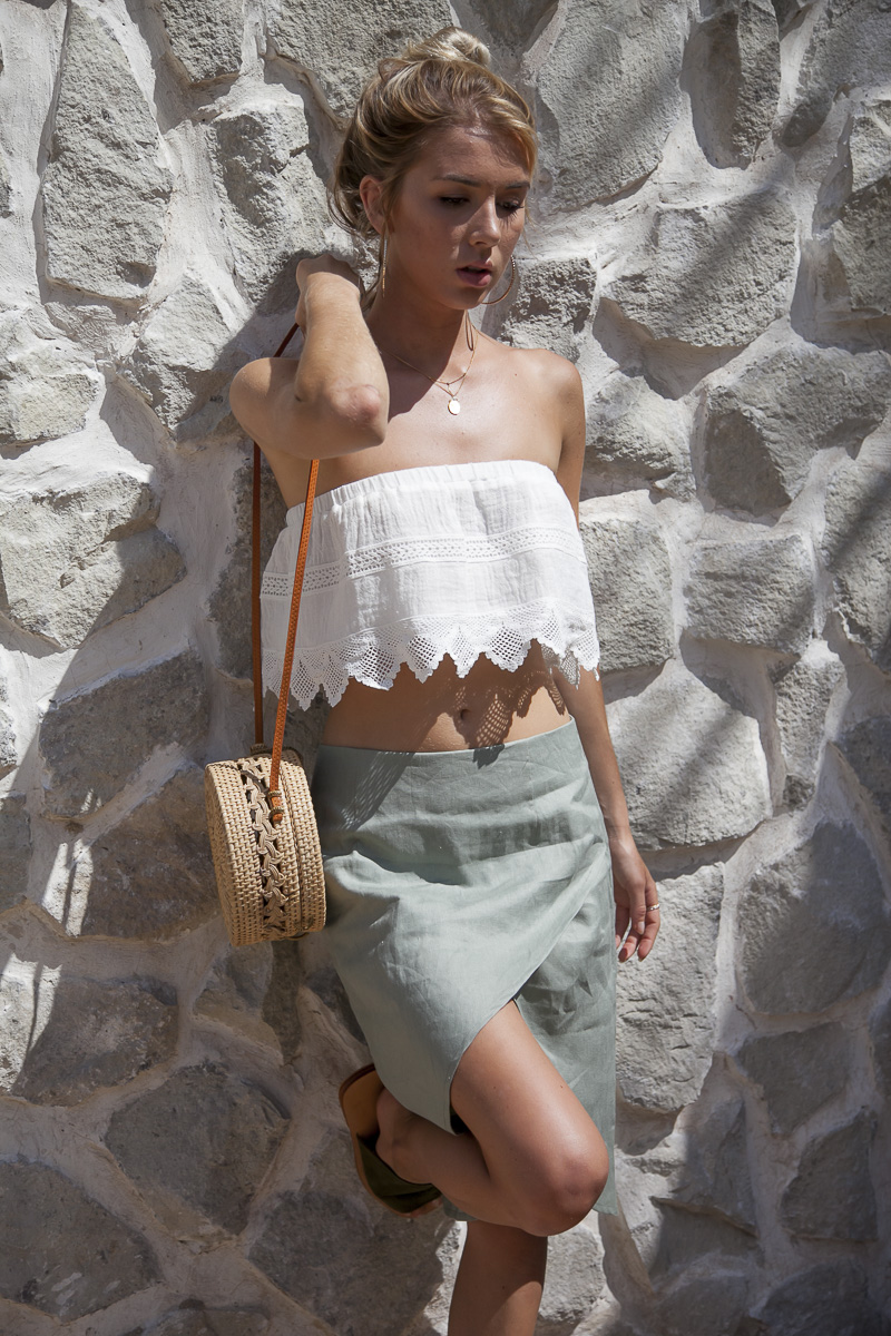 Palm Collective Resort 17 Lovers Lane Skirt in Linen
