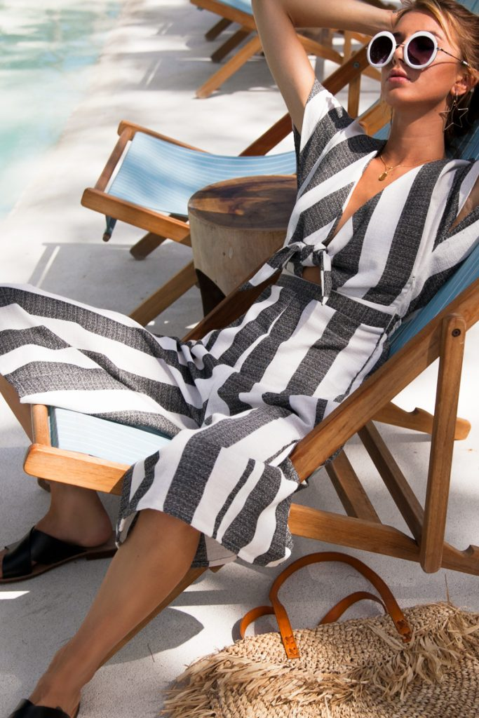 ruby-striped-jumpsuit Positano Fashion Trends. The perfect outfit inspo to wear to amalfi coast Italy or Positano or Isle of Capri
