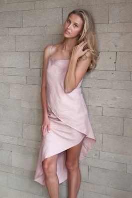 PC-Wholesale-Linen-Label-Australia-Brand-Womens-Kate-dress-pink-linen-Asymmetrical-Midi-Summer-Dress-For-Wedding