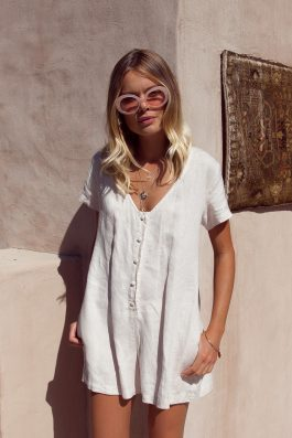 Summer-Linen-Playsuit-Buy-Online-Australia-Resort-Beachwear-Bridget-Palm-Collective
