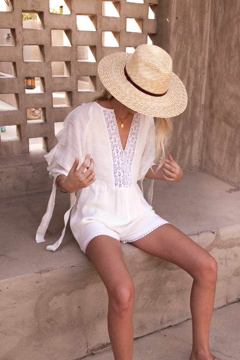 Capri-Romper-Playsuit-White-Cotton-Cheesecloth-gauze-by-Palm-Collective