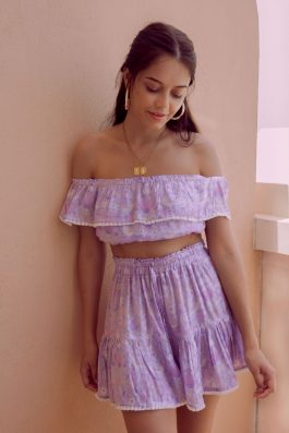 Blue-Jay-Top-and-Skirt-Set-Bohemian-Print-in-Pink-and-Lilac-and-peach-by-Palm-Collective