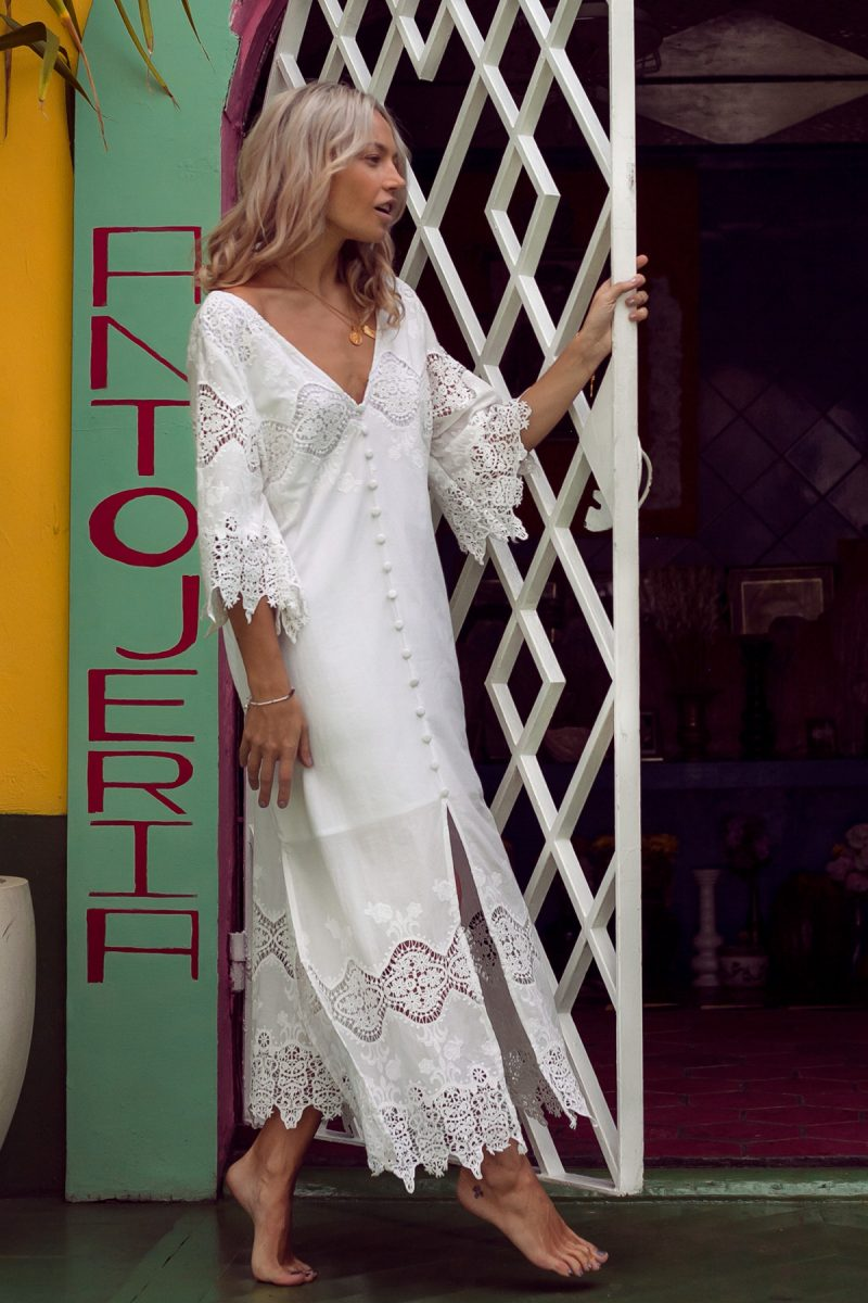 White-Lace-Maxi-Dress-Cotton-Bohemian-With-SLeeves-by-Palm-Collective