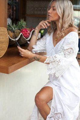 White-Maxi-Dress-Summer-with-Sleeves-Olivia-Dress-by-Palm-Collective-buy-Online