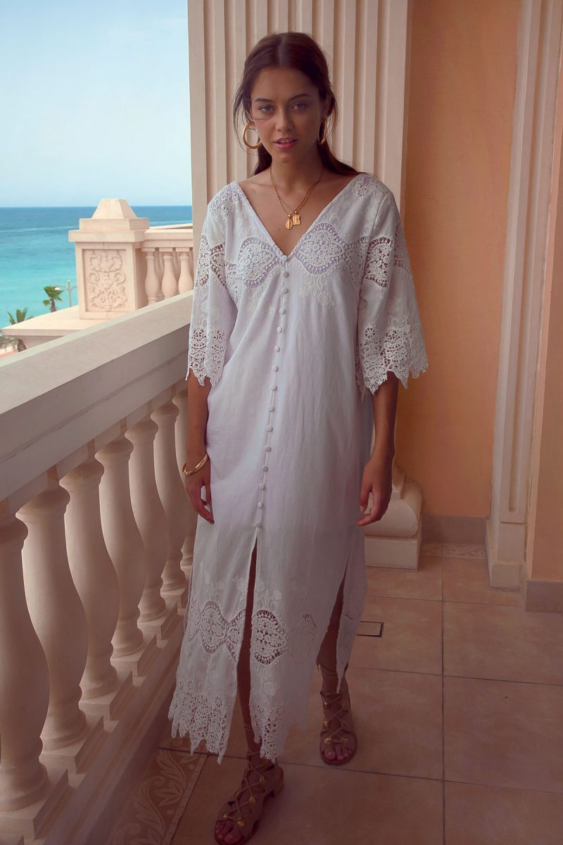 White-Summer-Maxi-Dress-Long-Lace-Detail-with-Sleeves