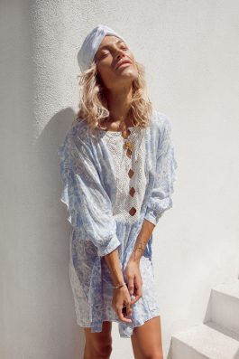 Bohemian-Luxe-Dress-Dolce-Print-Palm-Collective