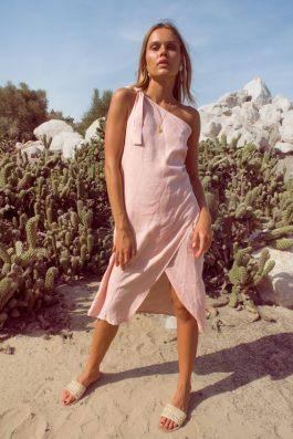 Bella-Linen-One-Shoulder-Dress-by-Palm-Collective
