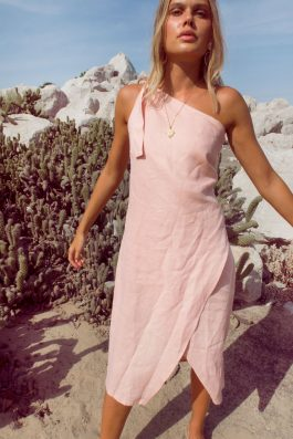 Bella-One-SHoulder-Linen-Dress-in-Blush-Pale-Pink