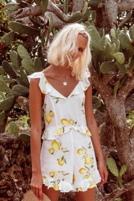 Lemon-Print-Jumpsuit-Ladies- Lemonade Playsuit by Palm Collective