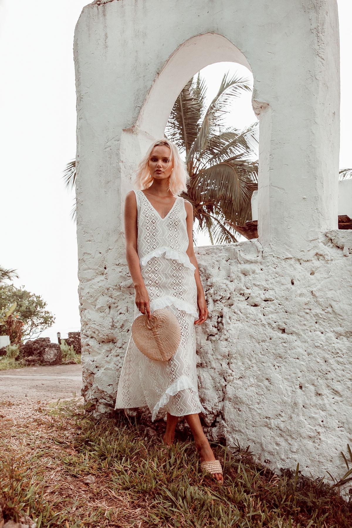 Ethical Clothing Brands Wholesale Clothing Australia Lace MAxi Dress