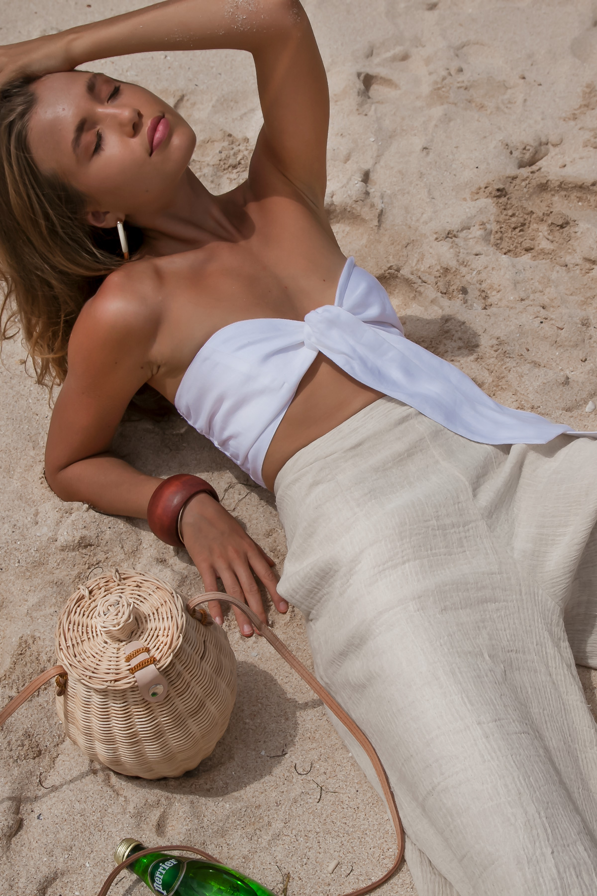 Ethical and Sustainable long linen pants Modern Resortwear Brand