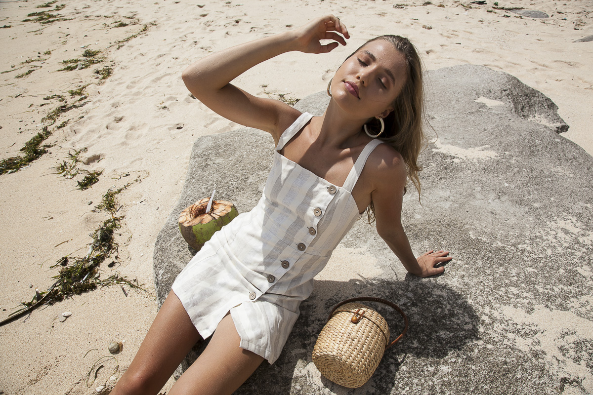 Sustainable Linen Dress for summer by Palm Collective