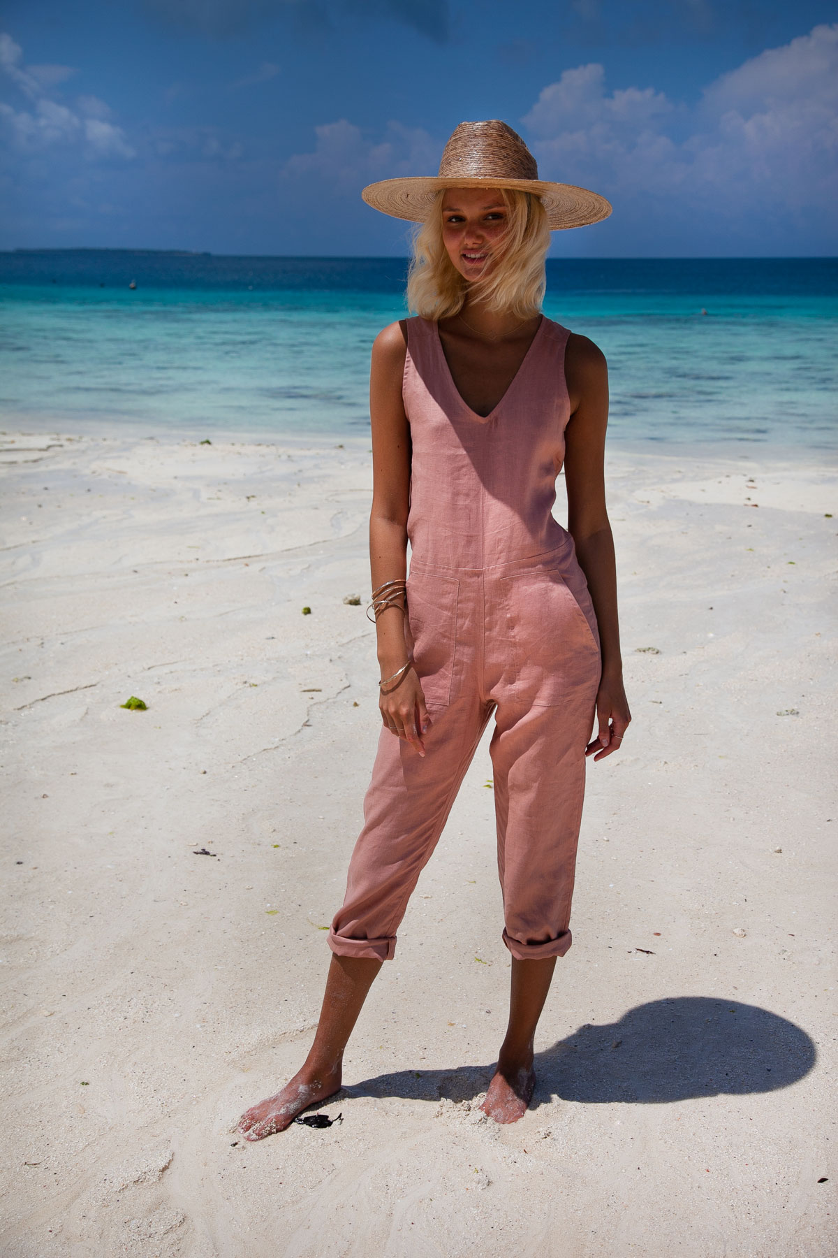 Sustainable and Ethical Fashion Brand Pixie-Linen-Jumpsuit-Pixie-Jumpsuit--Long-Linen-Baggy-loose-jumpsuit-by-Palm-Collective