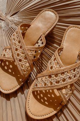 Vegan-womens-shoes-rattan-criss-cross-sandal-slides