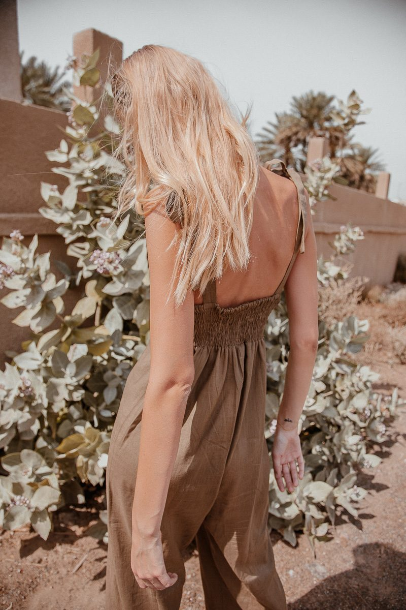 Bonnie-loose-fit-linen-jumpsuit-long-sustainable-fashion- by Palm Collective Back