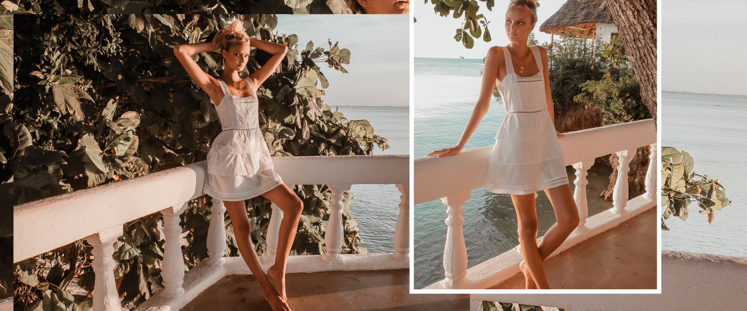 White Lace Maxi Dress Swim coverup Palm Collective The Label Sustainable Fashion