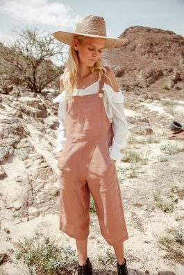 Coachella Loose Fit Linen Overalls for women by palm collective
