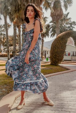 Praslin bohemian floral print maxi dress Palm Collective