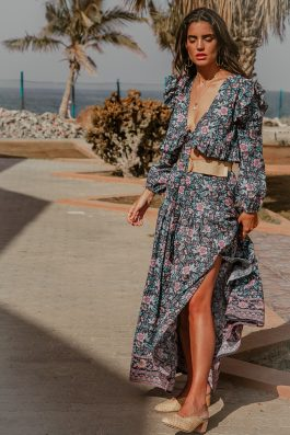 Praslin Maxi Bohemian Floral Print Maxi Skirt by Palm Collective Buy Online Ladies Maxi Beach Skirt