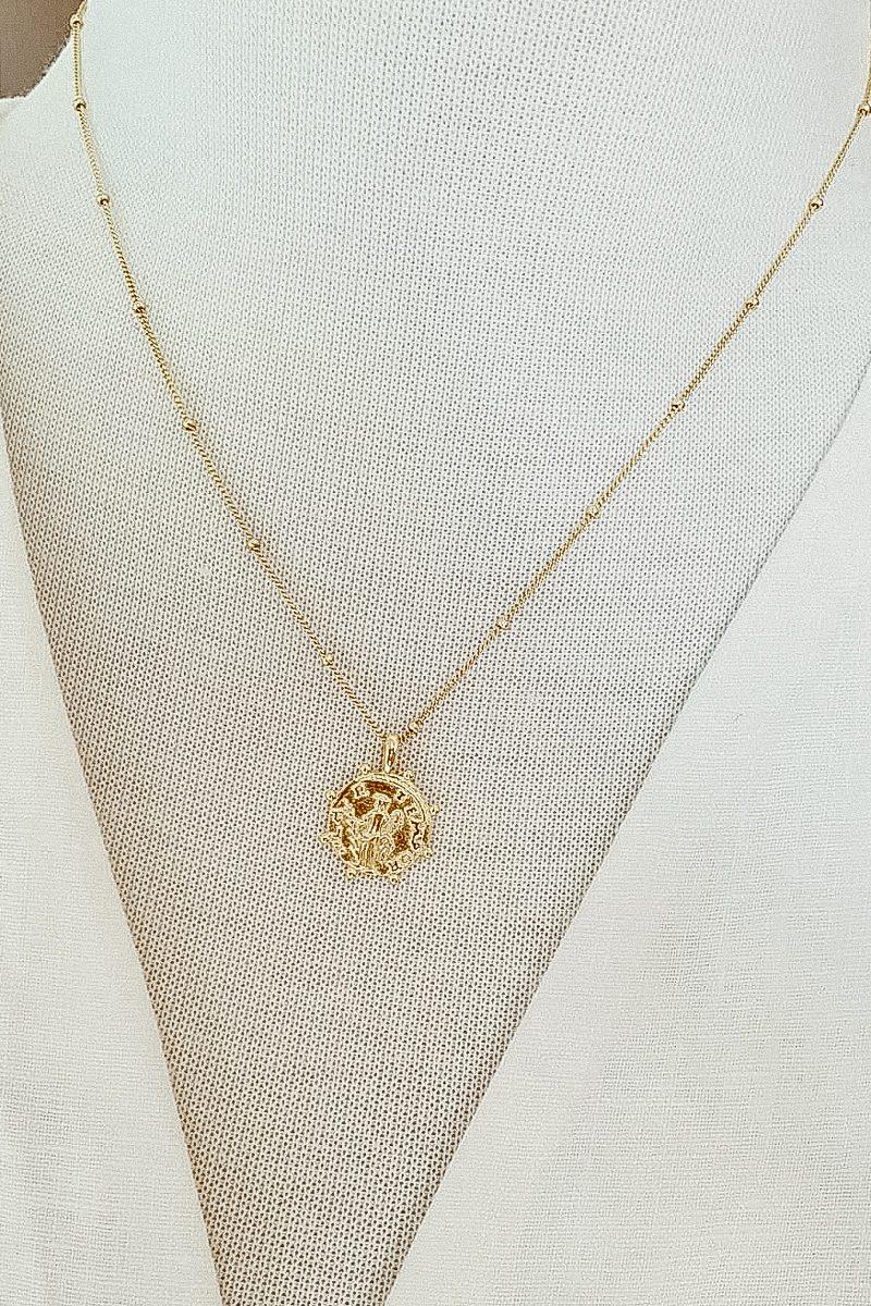 Gold Coin Fine jewellery Greek Gods Pendant small. 6