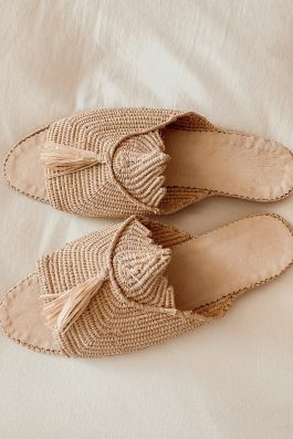 Morrocan Raffia Shoes Slides Peep Toe Ladies Palm Collective the Label Buy Online Australia