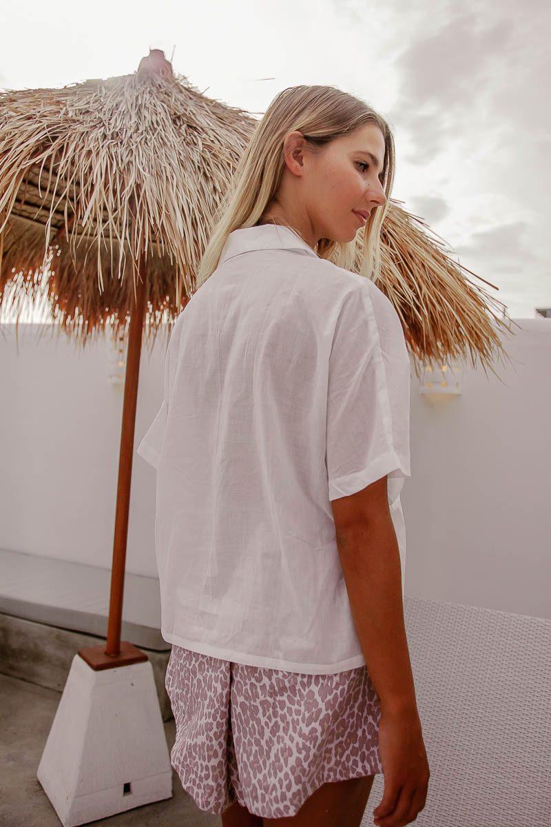Womens Parisian White Shirt short sleeves