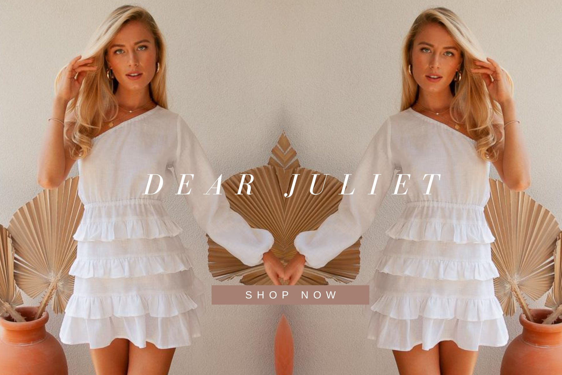 WHITE LINEN DRESS ONE SHOULDER SUSTAINABLE