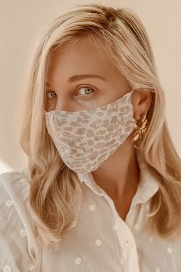 Leopard print womens face mask linen australia buy on line 10