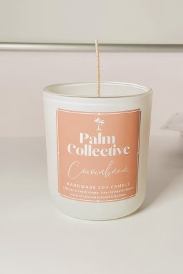 Palm collective soy candle Cococabana Coconut and lime scented candle made in australia