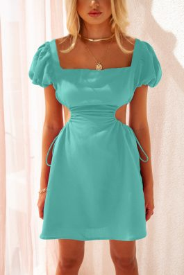 cut out mini dress side waist cut out