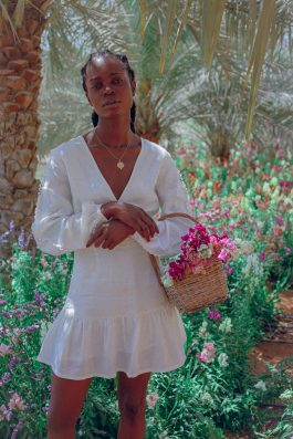 Monette Backless white dress by Palm Collective Sustainable womens fashion buy online