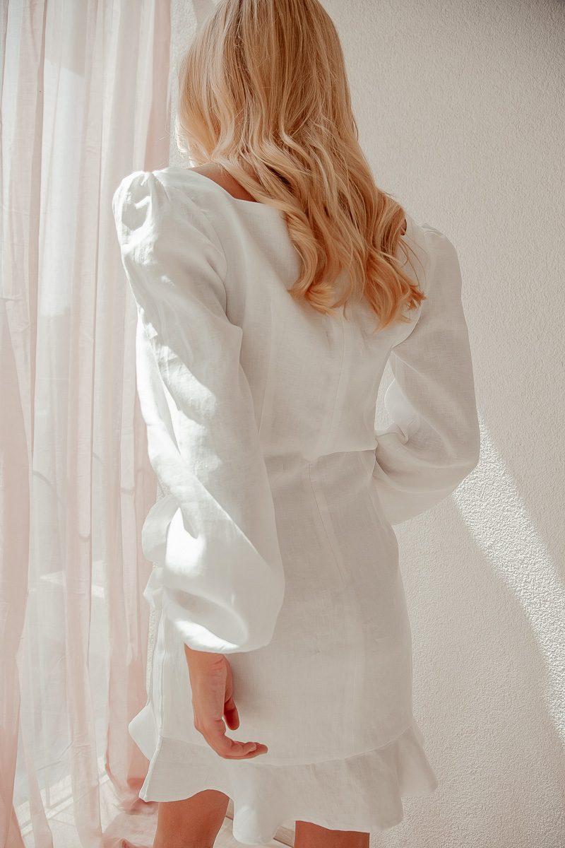 Siren White Long Sleeve Dress Short Mini Palm Collective