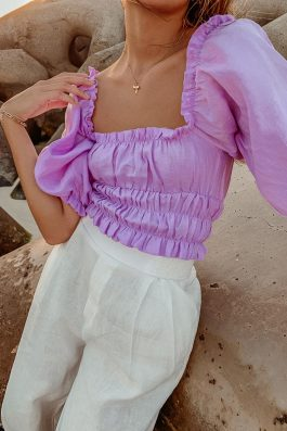 lilac blouse zoe top palm collective-2