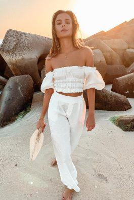 white linen pants high waisted