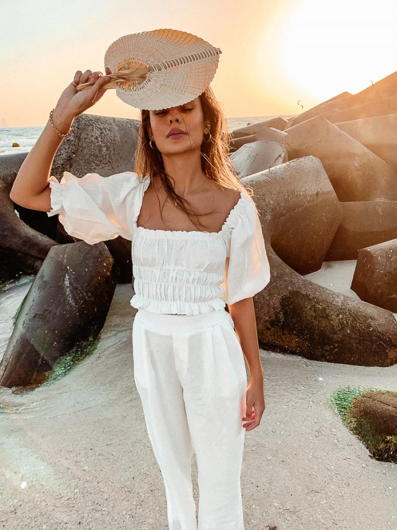 linen clothing linen blouse palm collective sustainable fashion brand