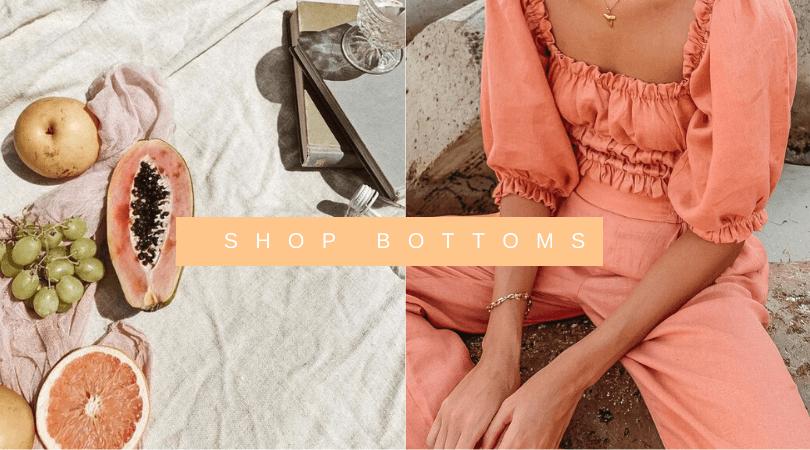 Linen shorts and linen pants buy online
